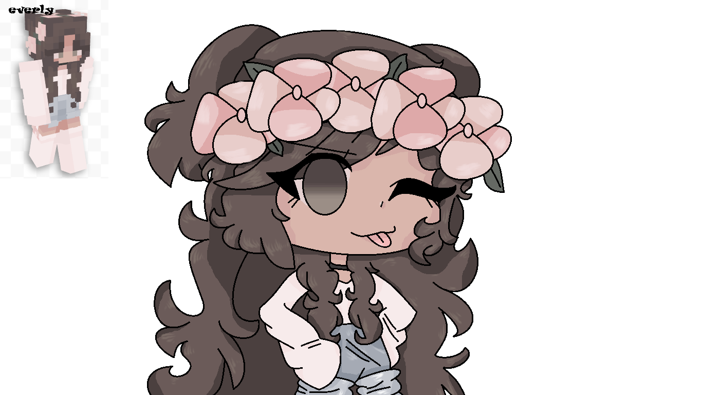 Minecraft flower crown girl in 2020 Anime, Anime outfits