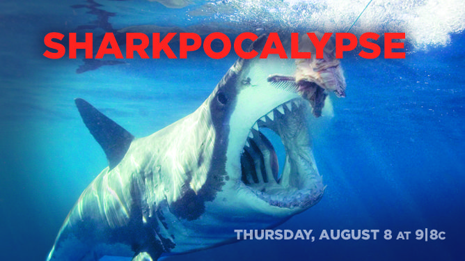 SHARKPOCALYPSE! Shark week, Movie posters, Shark
