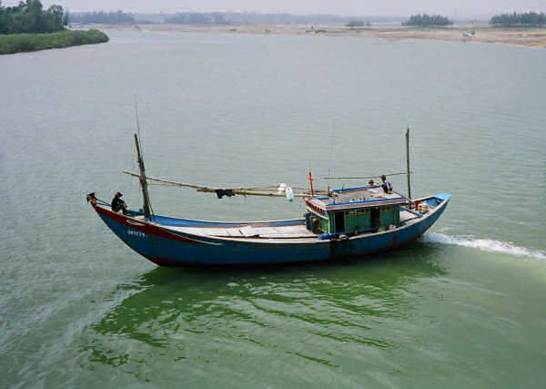 Painted wooden fishing boat from Vietnam. | Inspiration ...