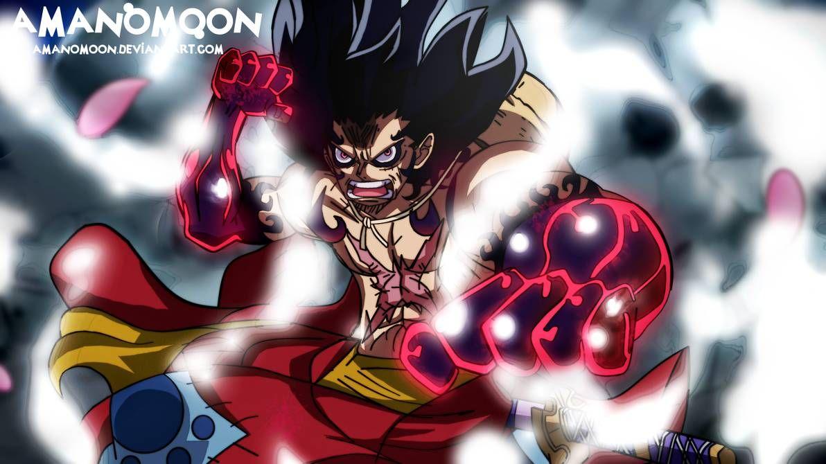 One Piece Fanart Kaido Vs Luffy Wano Kuni Snakeman By