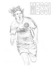 Messi Portrait Colouring Pages Fotboll
