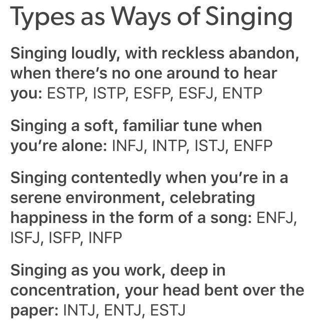 MBTI Types as Ways of Singing | ISTJ: Singing a soft