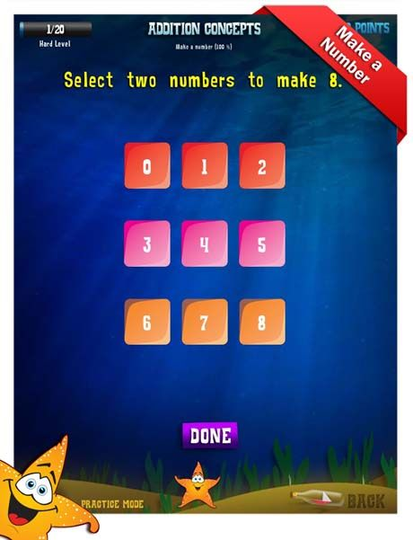 First Grade Math Apps Addition concepts Add in any