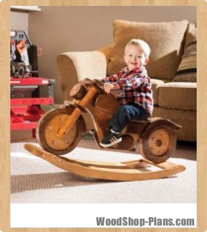 Motorcycle rocker woodworking plans... Makes me think of my nephew on
