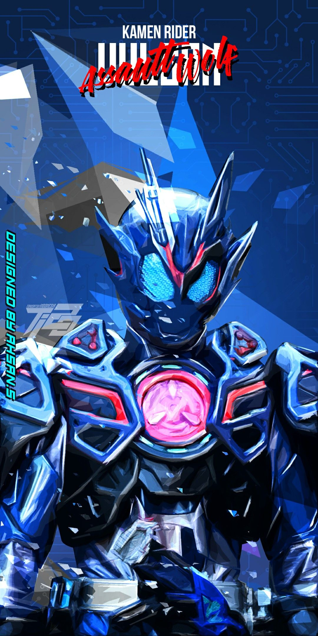 Kamen Rider Vulcan Assault Wolf Gambar Anime Seni Animasi