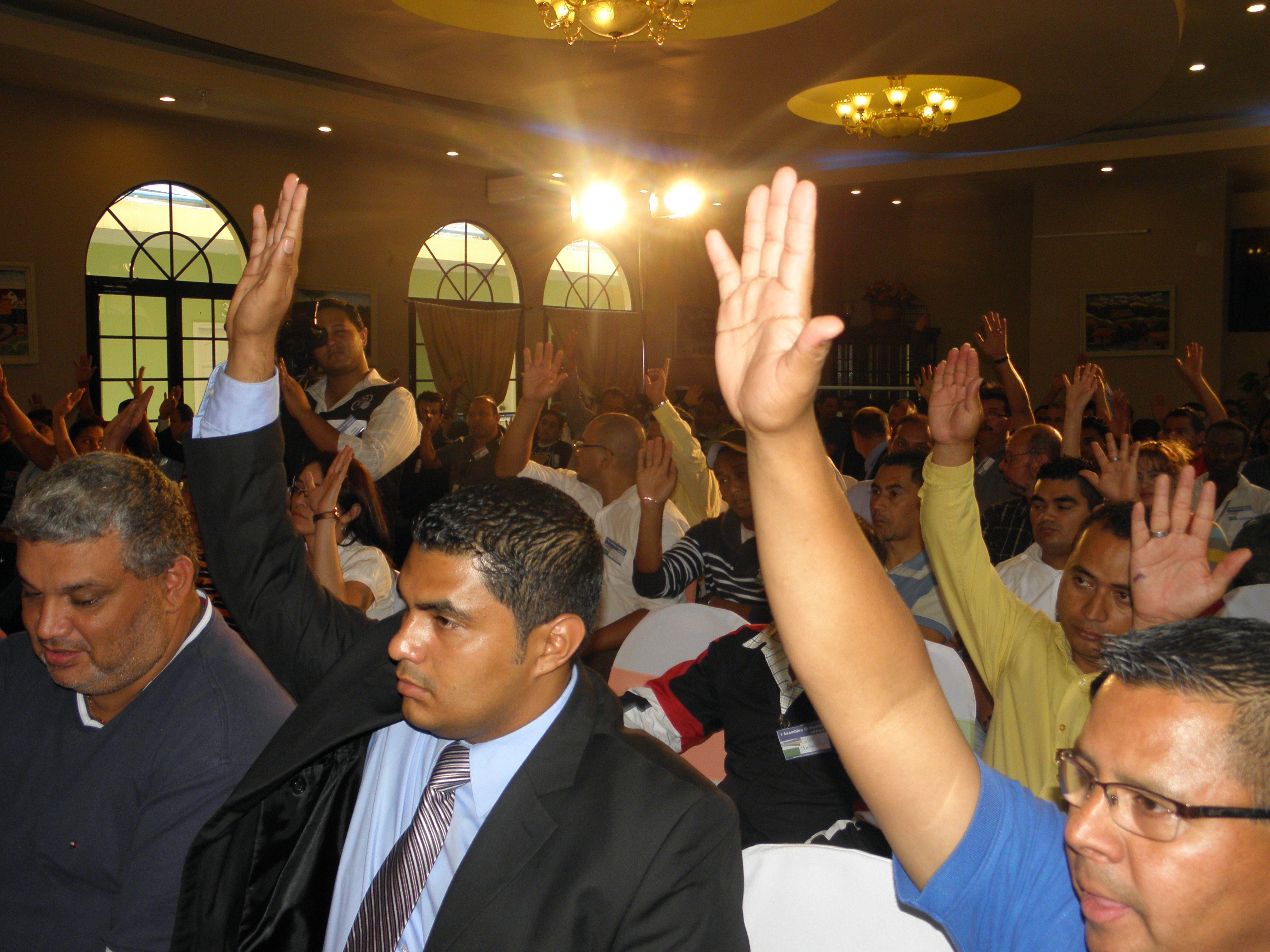 Junta de constitución de la OPPDH, aprobación de la directive provisional