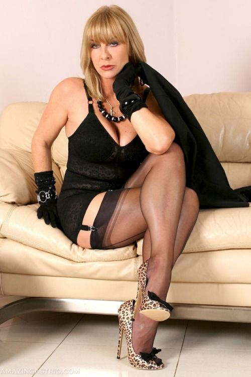 Think, what cougar pantyhose high heels can