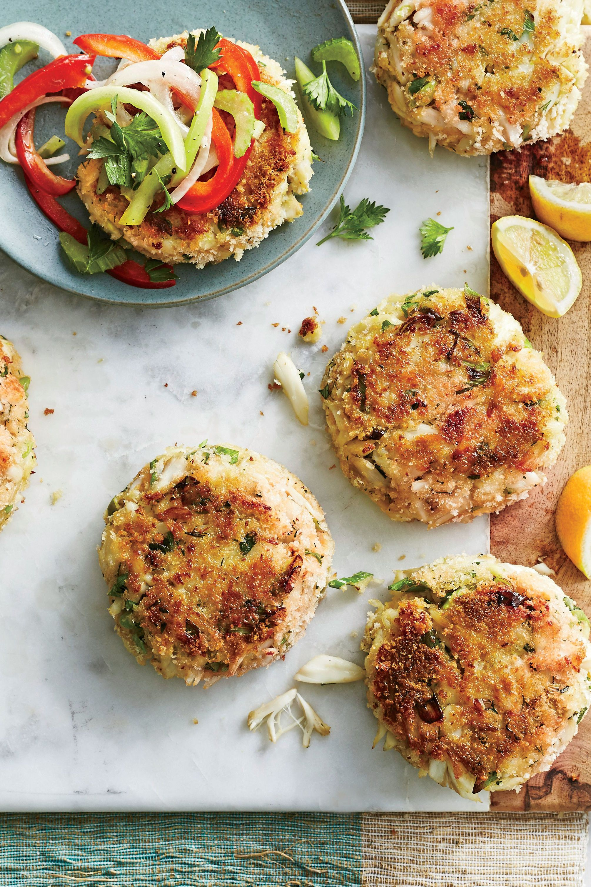 Best Ever Crab Cakes With Green Tomato Slaw Recipe In 2020