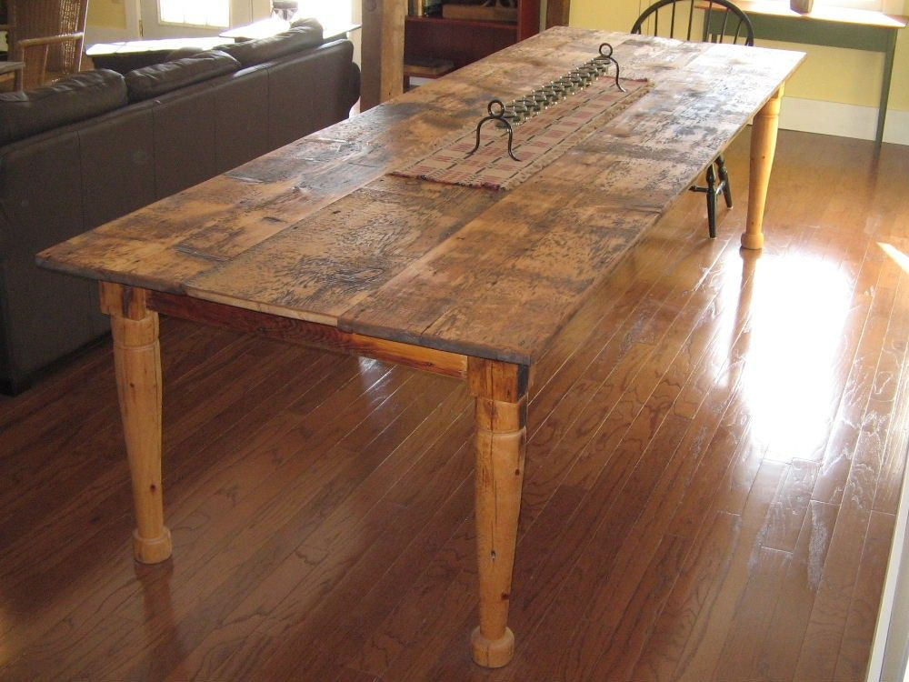 I want a table you can rough up and only make it look Farm dining table