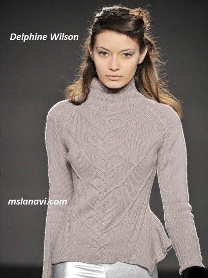Вязаные модели спицами от Delphine Wilson #ВязаниеСпицами http://mslanavi.com/2016/03/vyazanye-modeli-spicami-ot-delphine-wilson/