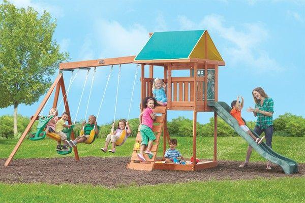 Bloomingdale Swingset   Backyard toys, Backyard playset ...