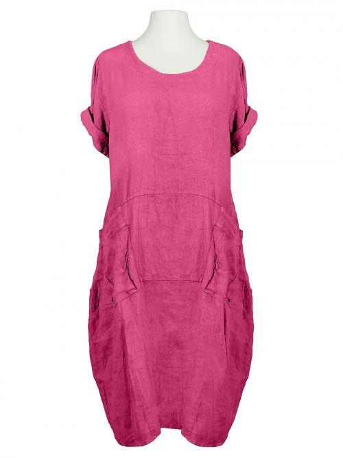 Damen Kleid Leinen Halbarm Pink Von Spaziodonna Bei Www Meinkleidchen De Mode Aus Italien Mode Kleider