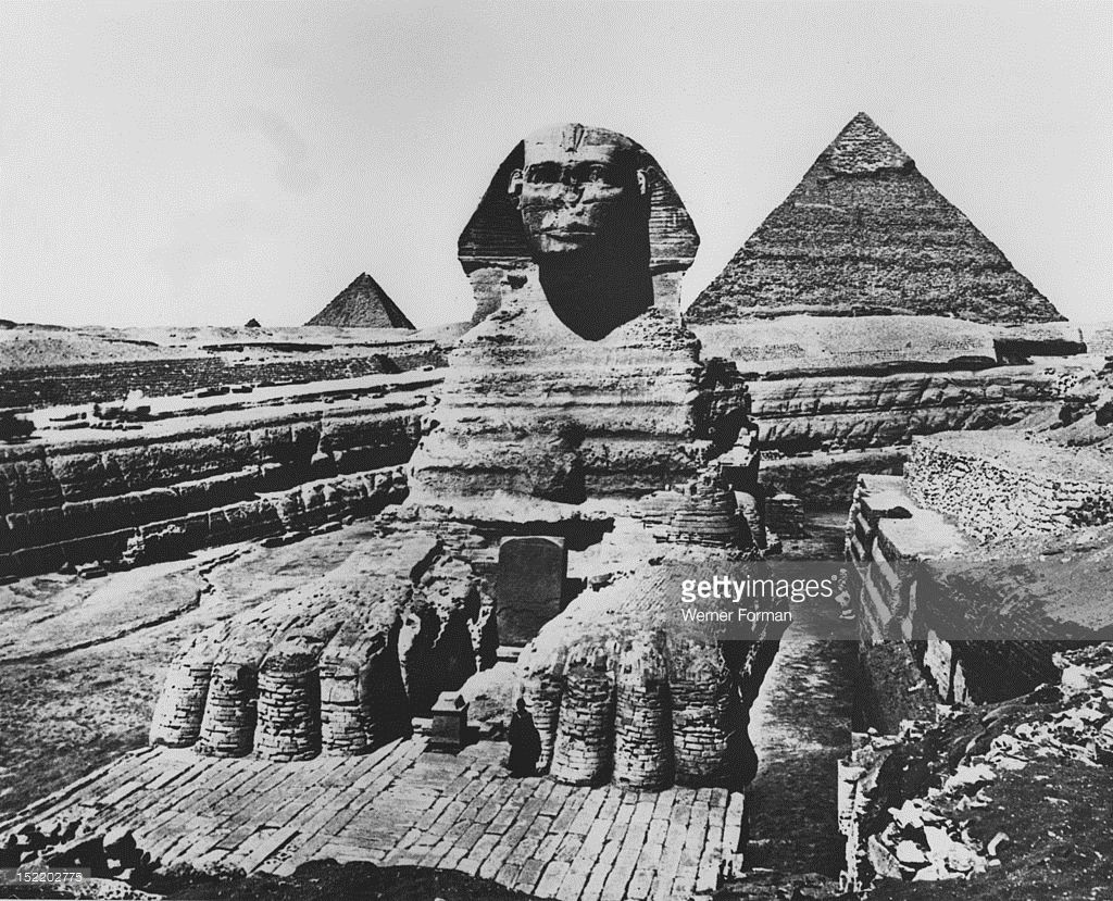 The Giant Sphinx in Giza in the 1920s. 🌹 | Ancient Egypt ...