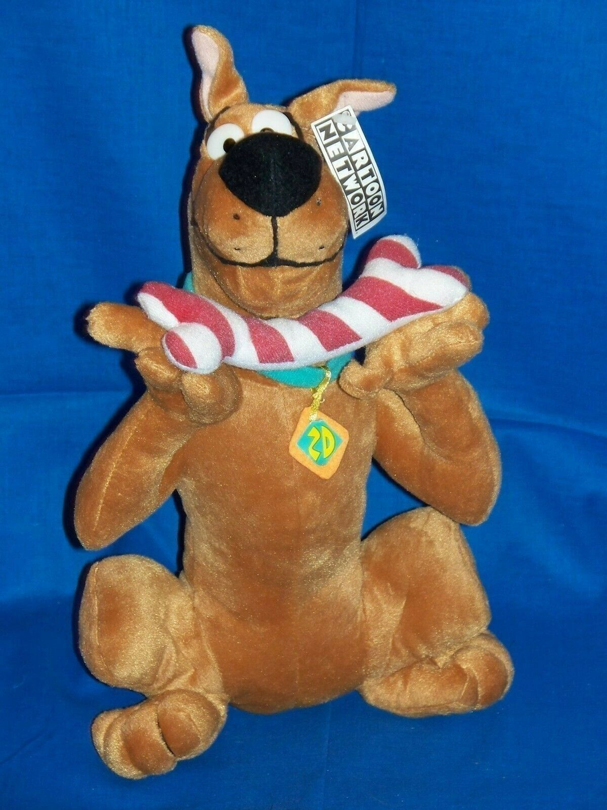 Scooby Doo Plush dog Christmas holiday Candy Cane striped