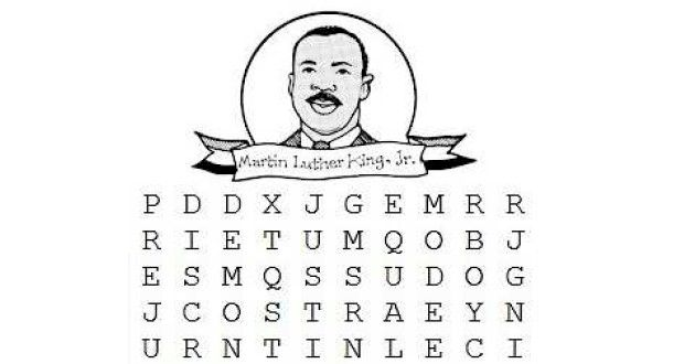 image result for martin luther king word search printable mlk