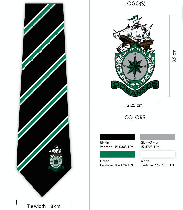 Logo Design Template For High School Soccer Team S Custom Necktie