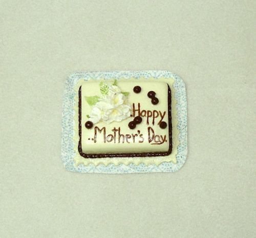 Dollhouse Miniature Happy Mother's Day Cake Doll House Miniatures