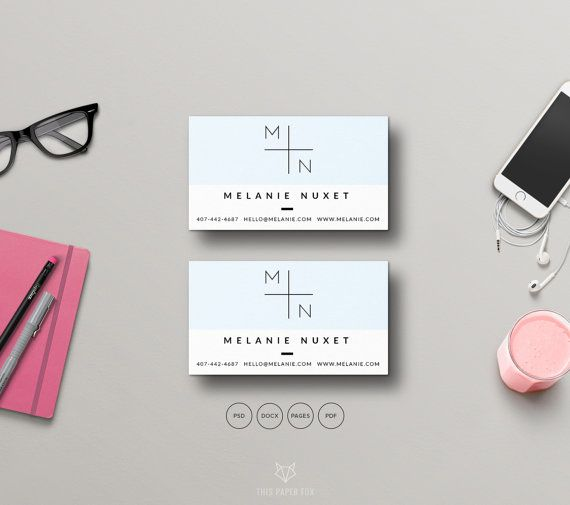business card photoshop template