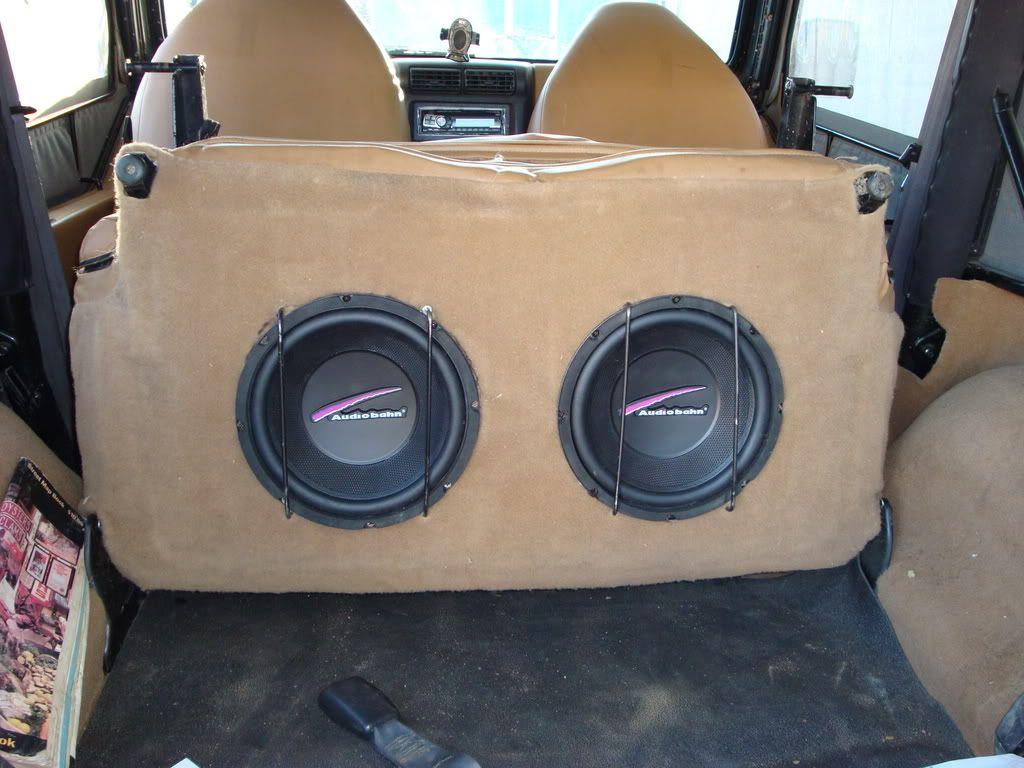 B A E C D Ad F on Jeep Xj Subwoofer Box
