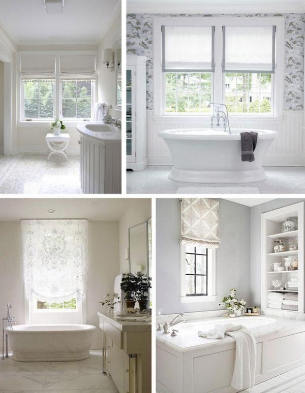 Inspiring You With Bathroom Window Dressings 02