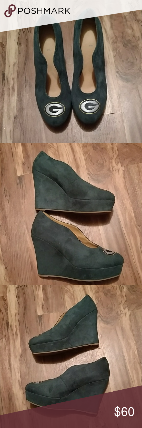 32a83ab7 Women's Green Bay Packers wedge heels Brand New, never worn unknown ...
