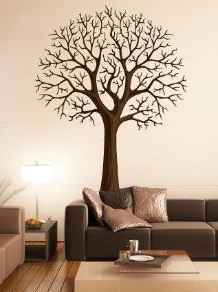Winter Style Vinyl Wall Art Tree Decal - Modern. $69.99, via Etsy ...