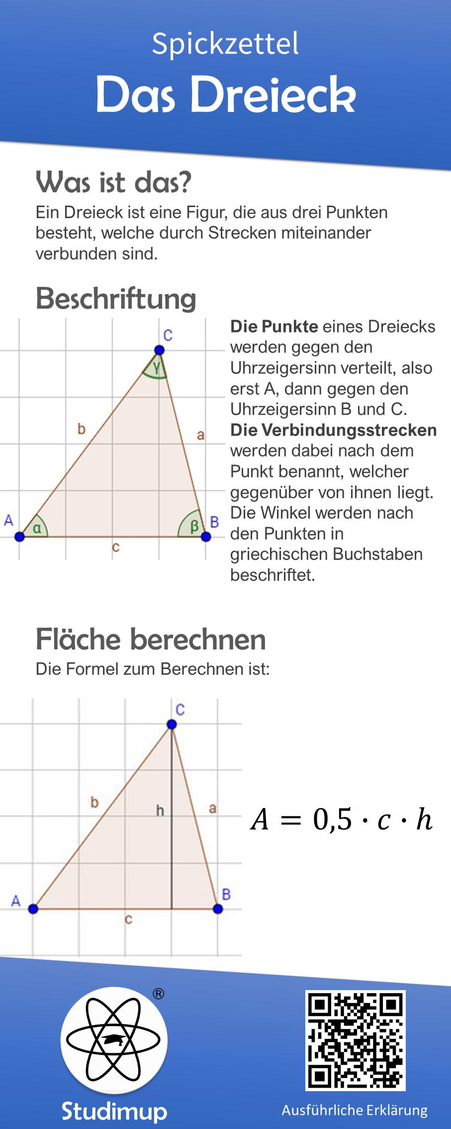 mathe spickzettel zum thema das dreieck mit erkl rung der. Black Bedroom Furniture Sets. Home Design Ideas