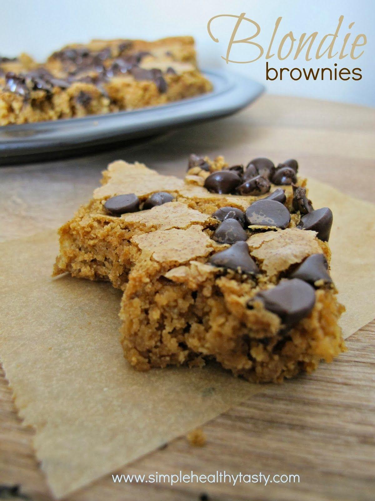 (Somewhat Healthified) Blondie Brownies