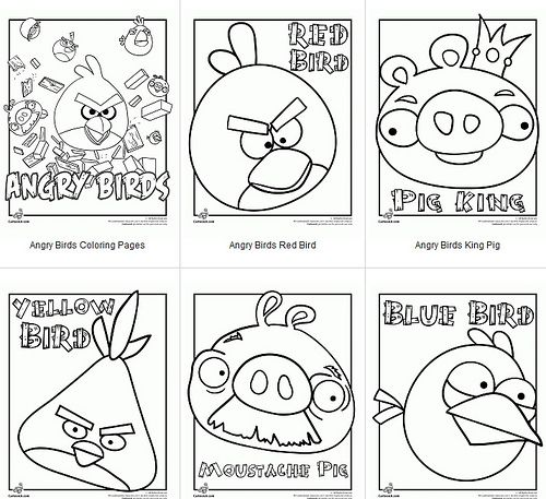 Angry Birds printable coloring pages | Cute ideas for my 2 favorite ...