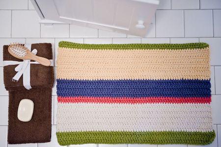Crocheted Bath Mat Crochet Rug Cotton Bath Rug Cotton Bath Mats