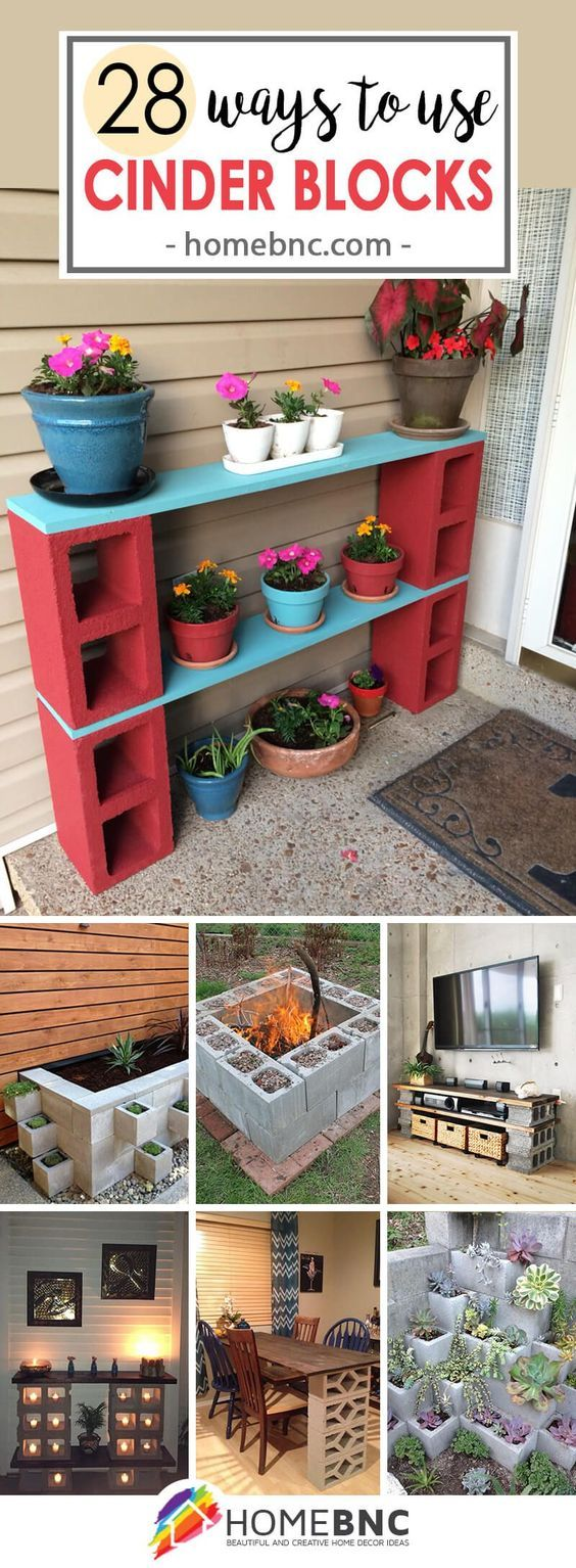 concrete block furniture ideas. 28 Practical, Functional, And Creative Ways To Use Cinder Blocks Concrete Block Furniture Ideas