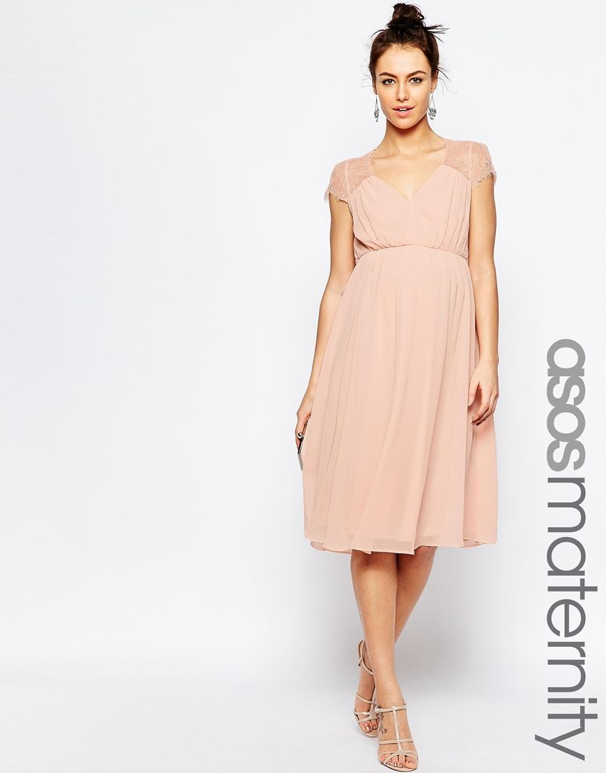 Image 1 of asos maternity kate lace midi dress bridesmaid image 1 of asos maternity kate lace midi dress ombrellifo Images