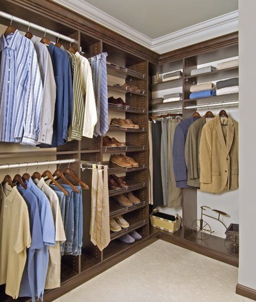 Custom His And Her Closets Nice Organizer In The Closet