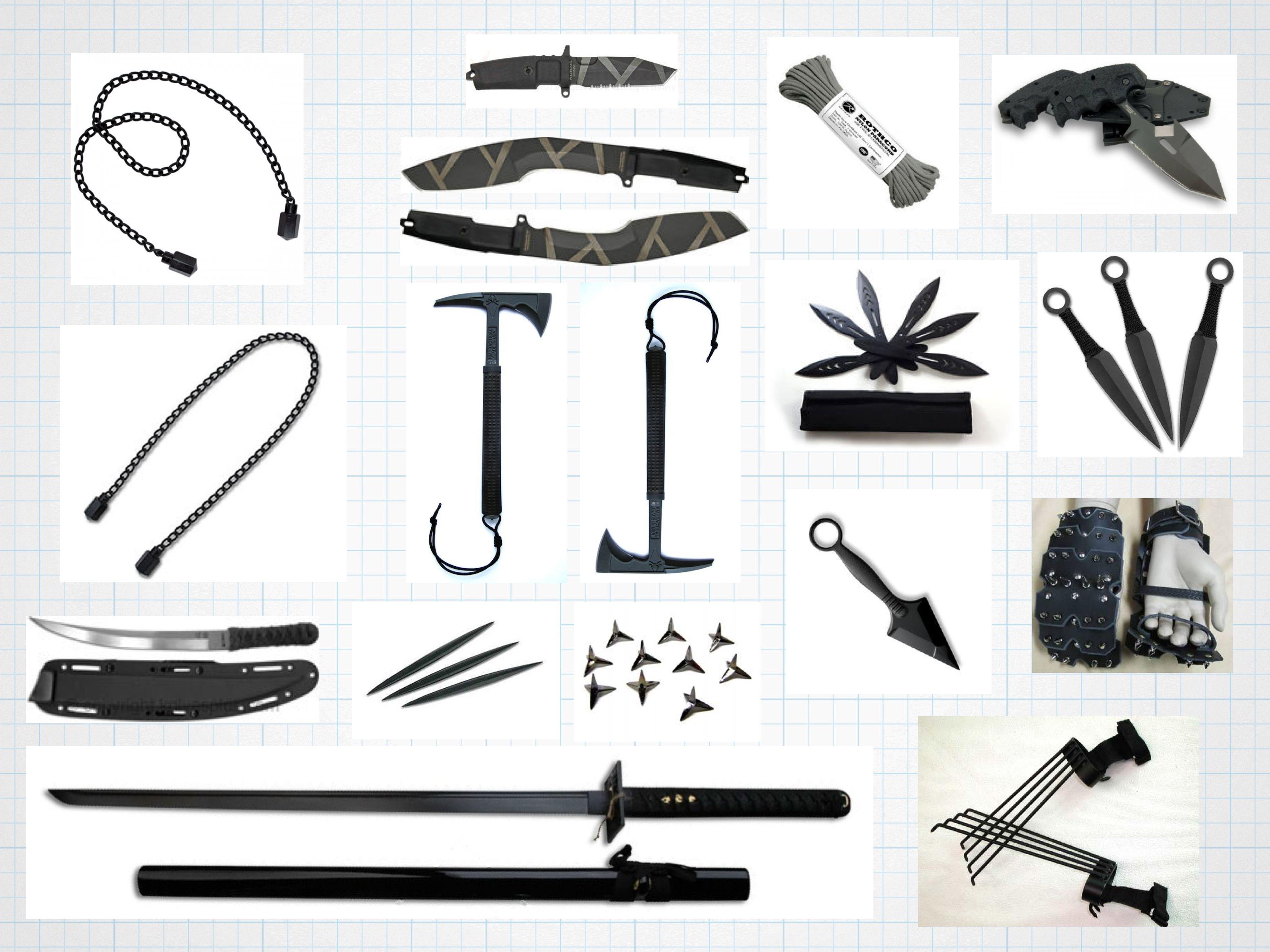 Custom modern ninja weaponry | Hair accessories