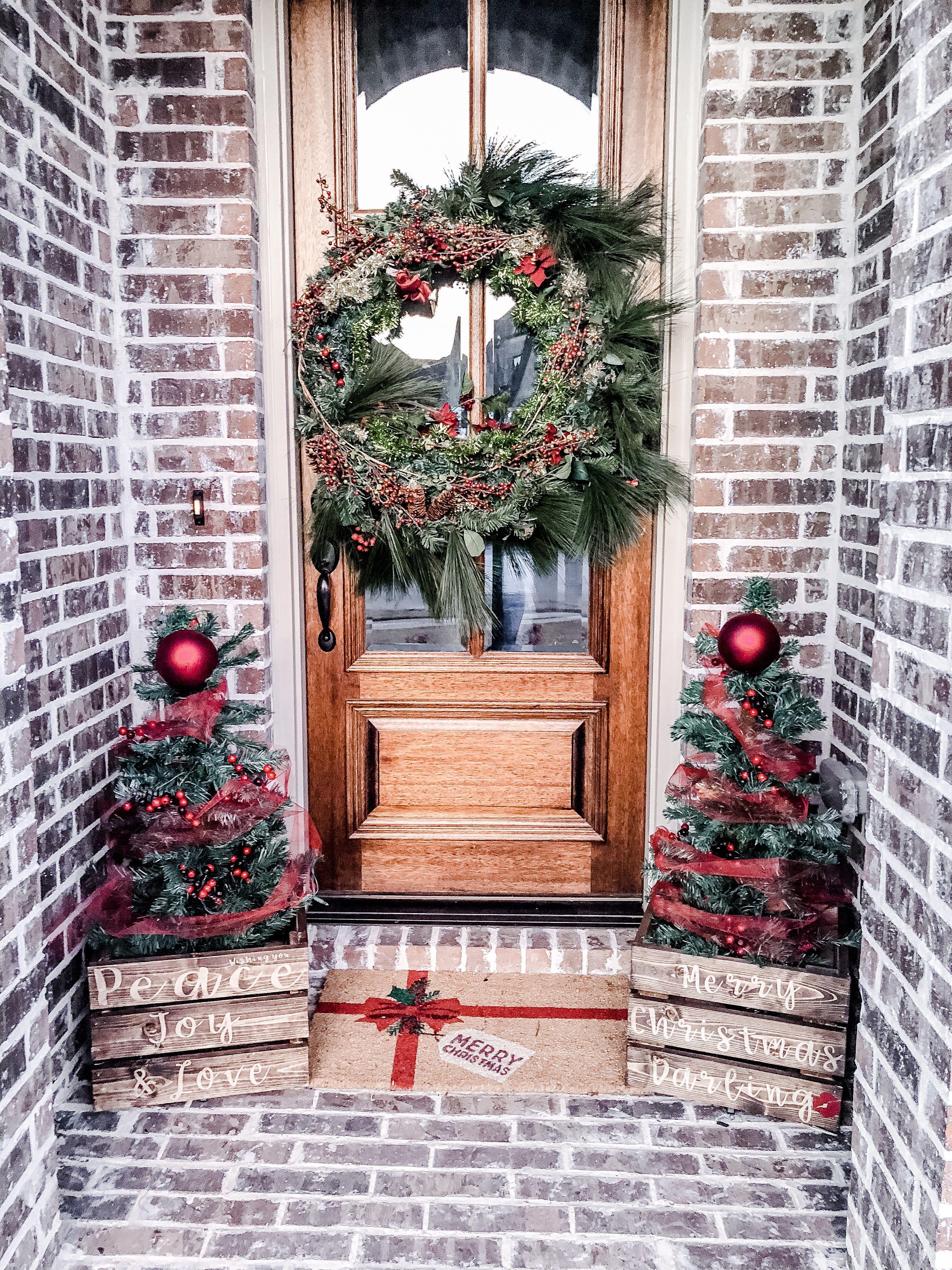 DIY Wreath and Christmas Tree Box Stand Christmas decor