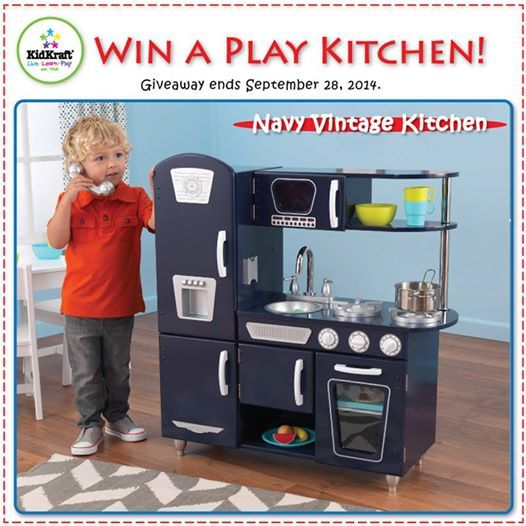 Kidkraft Navy Vintage Play Kitchen 53296 Order S Up The Is Here To Serve Your Child Imagination