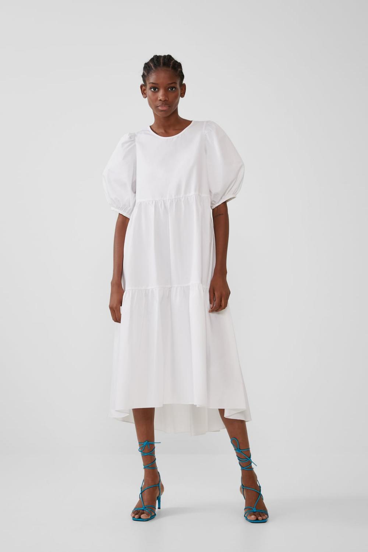 Asymmetrical Poplin Dress New In Trf New Collection Zara United States Poplin Dress Dresses Top Shop Dress [ 1500 x 1000 Pixel ]