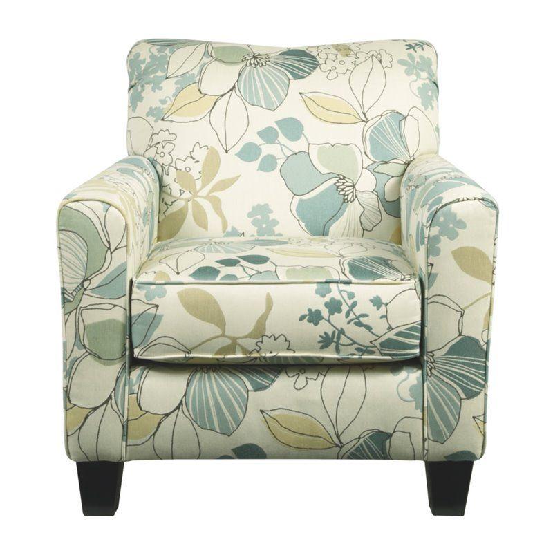 Ashley daystar fabric accent chair in seafoam armchair