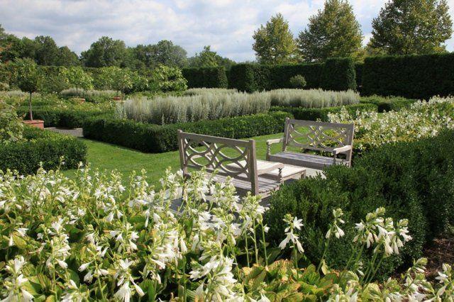 Englischer Garten Anlegen Gartenmöbel Klassische Sitzbank