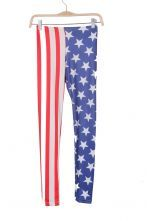 Blue and White United States Flag Print Legging $26.61