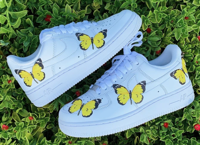 Yellow Butterfly AF1 | Butterfly shoes