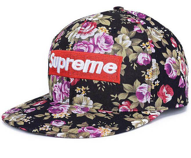 New Women Floral Flower Supreme Snapback Hip-Hop Hat Flat Galaxy Baseball  Cap 505101a5b9b