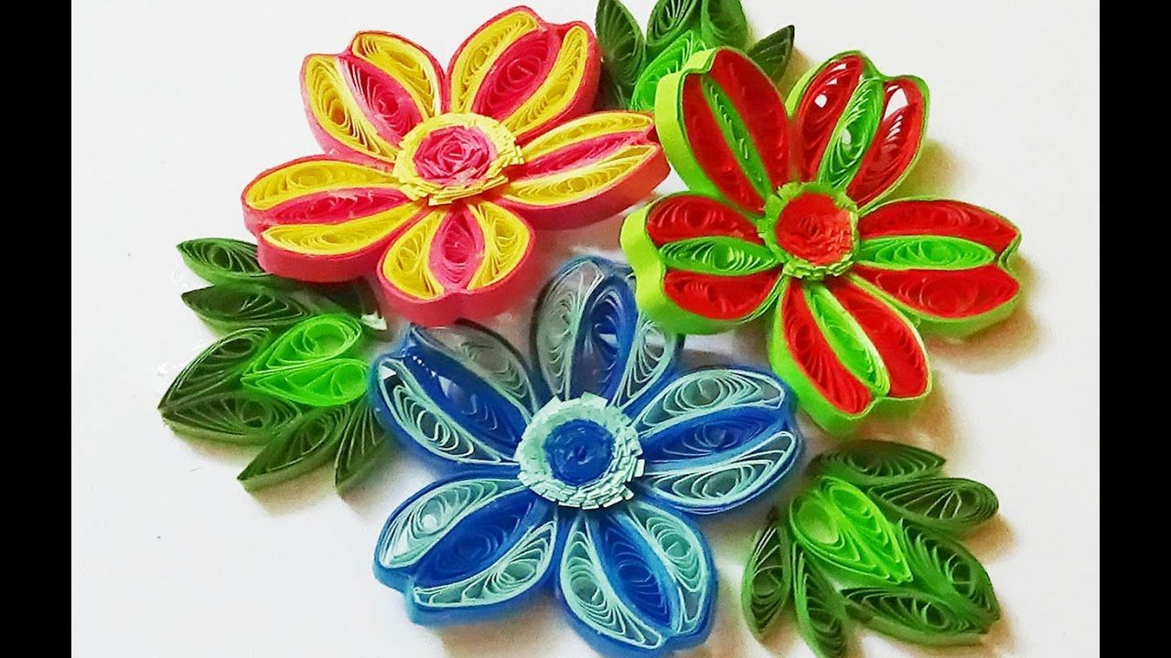 Paper Quilling Flowers How To Make 3d Quilling Colorful