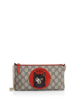 437dce0606a GUCCI GG Supreme Mystic Cat Wrist Wallet.  gucci