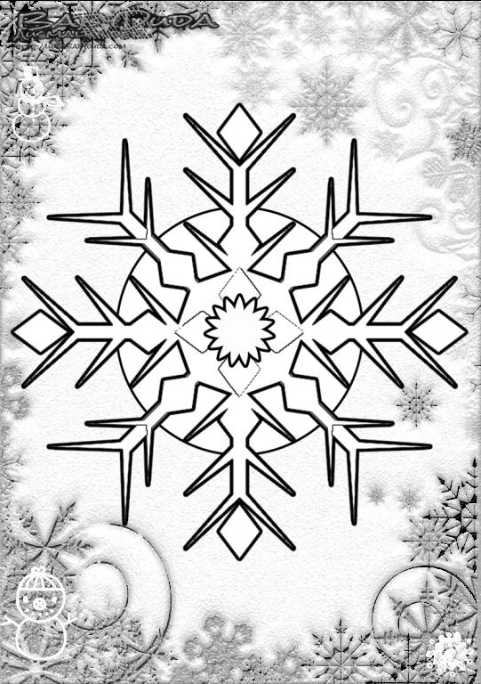 Winterbilder Mandala Schneeflocken Weihnachtsbaum Babyduda Malbuch Ausmalen Schneeflocken Ausmalbilder