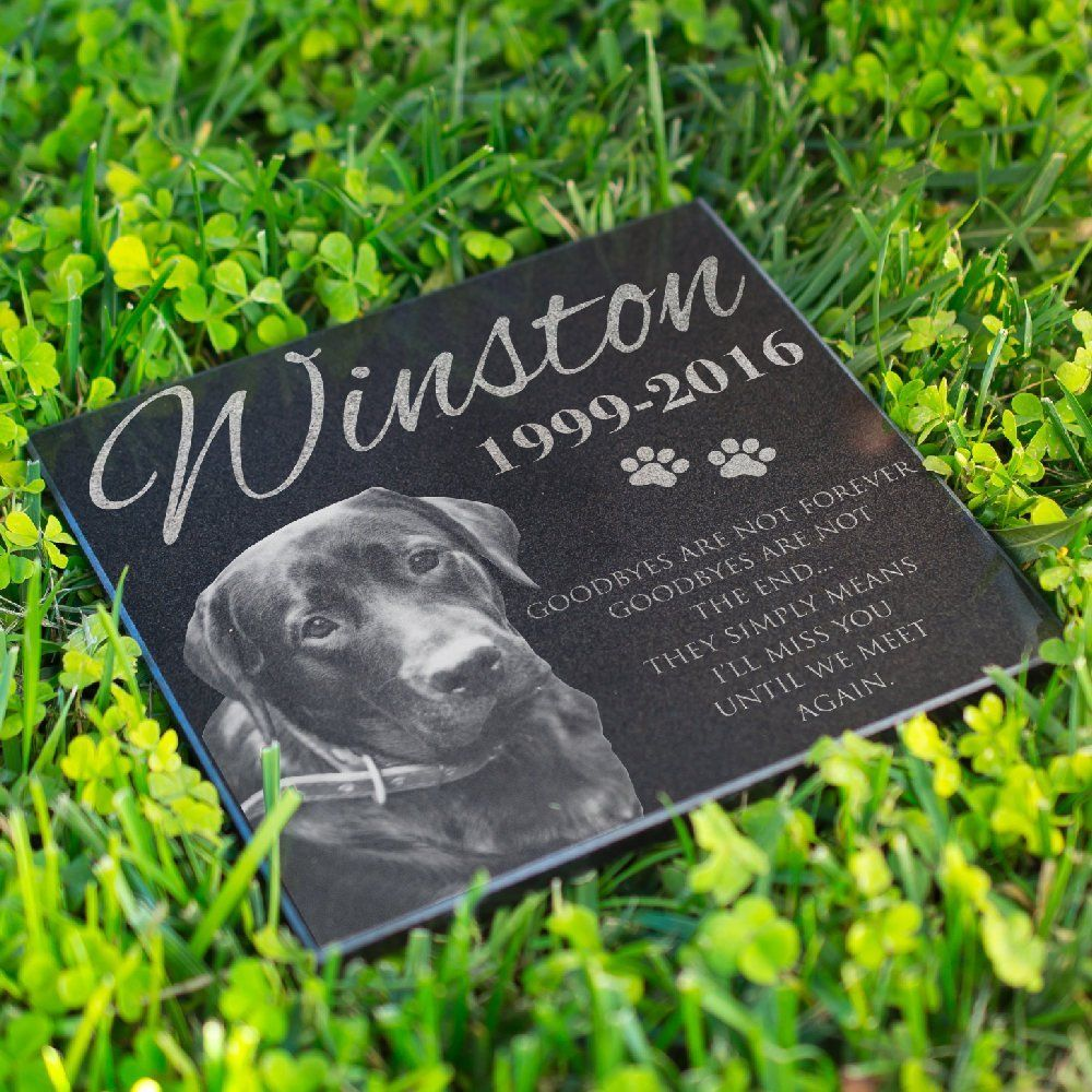 Personalized Pet Memorial Stone For Dog & Cat Laser