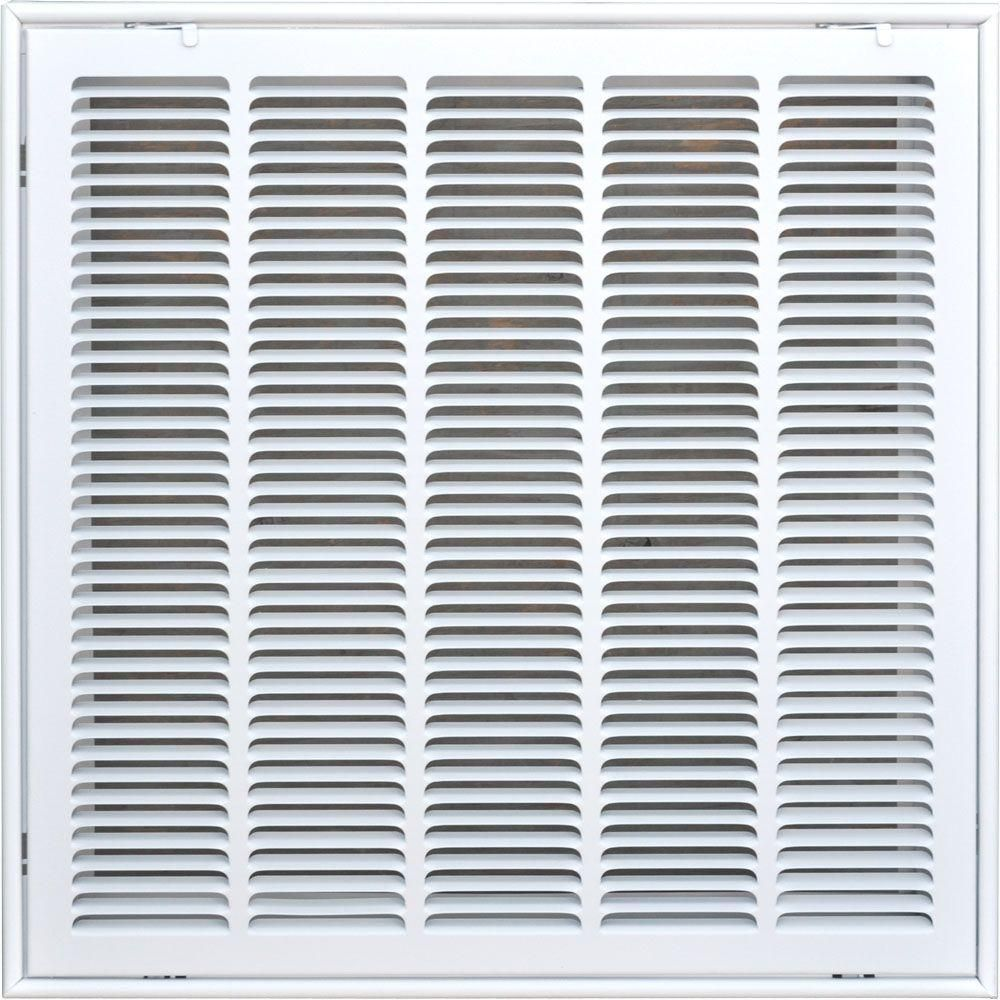 Speedi Grille 20 In X 20 In Return Air Vent Filter Grille White With Fixed Blades Sg 2020 Fg Return Air Vent Air Return Vent Cover Air Vent