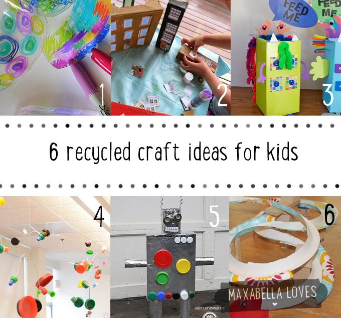 Superior Recycled Craft Ideas For Kids Part - 3: Recycled Craft Ideas For Kids