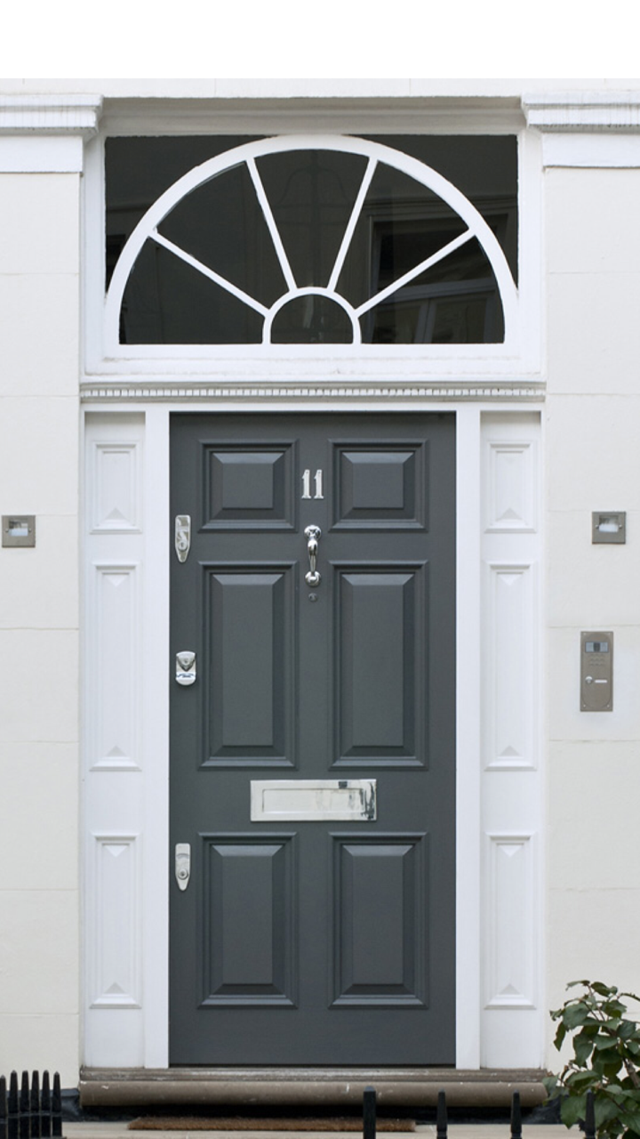 Banham security doors and door furniture provide effective front door security for London. Made with steel our high security doors keep homes safe. & Bespoke door with Banham Locks and Door furniture #Security #Door ...