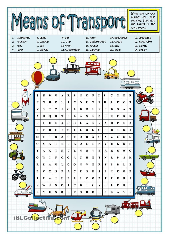 Means Of Transport Aulas De Ingles Para Criancas Ensino De